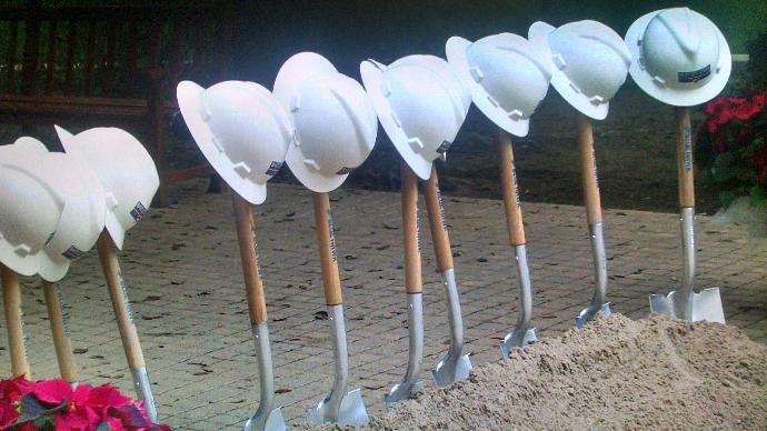 A moment from the groundbreaking ceremony. | Photo courtesy of KGNS TV