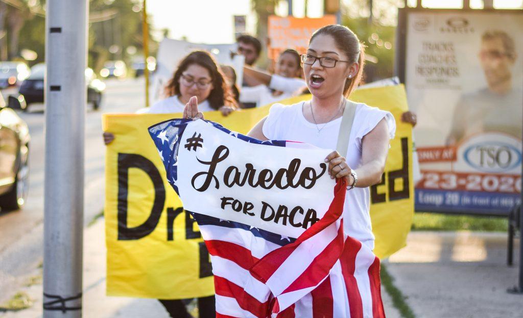 Bridge file photo of DACA supporters
