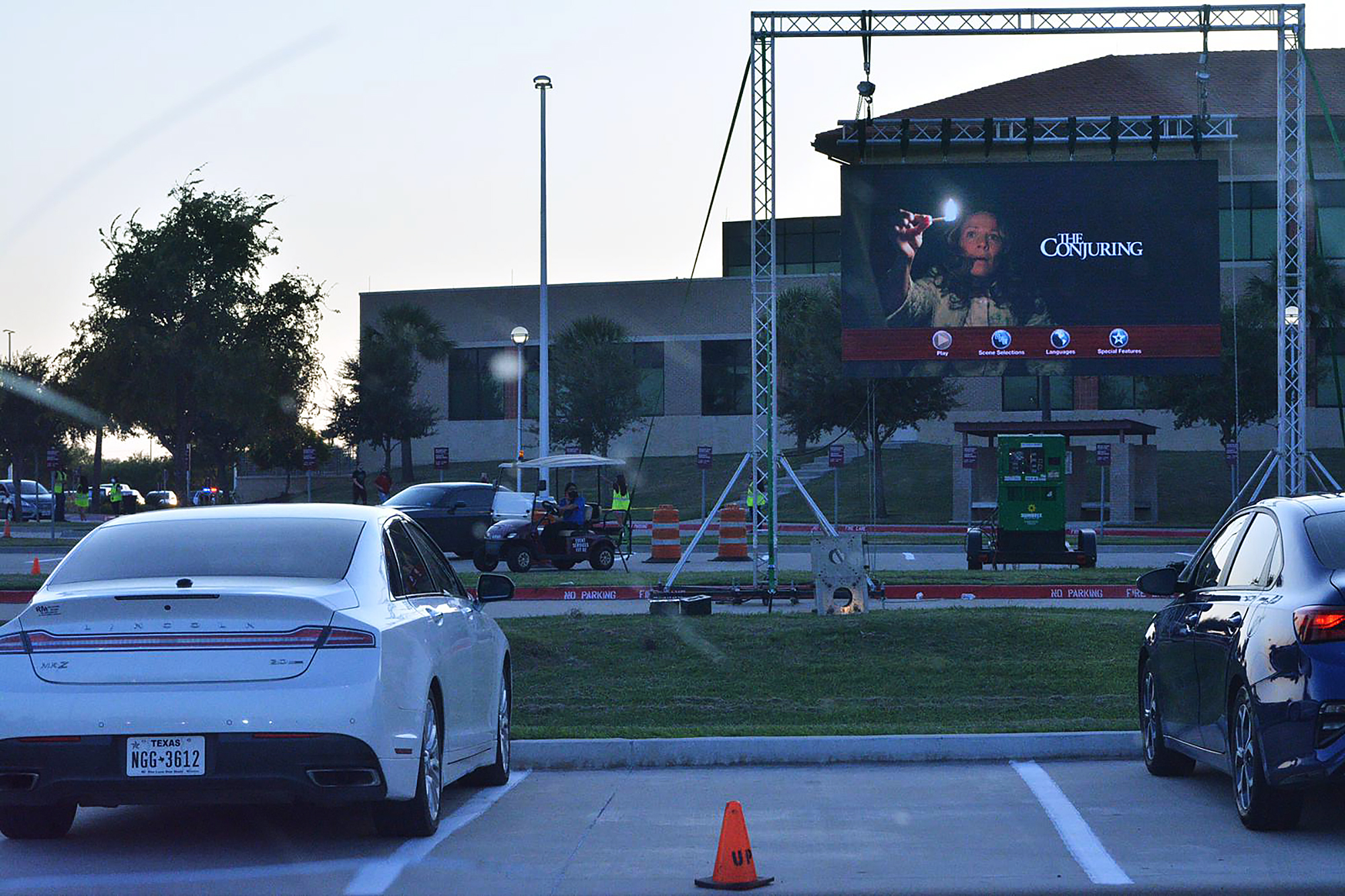 Drive-in Movie event provides entertainment, social distancing