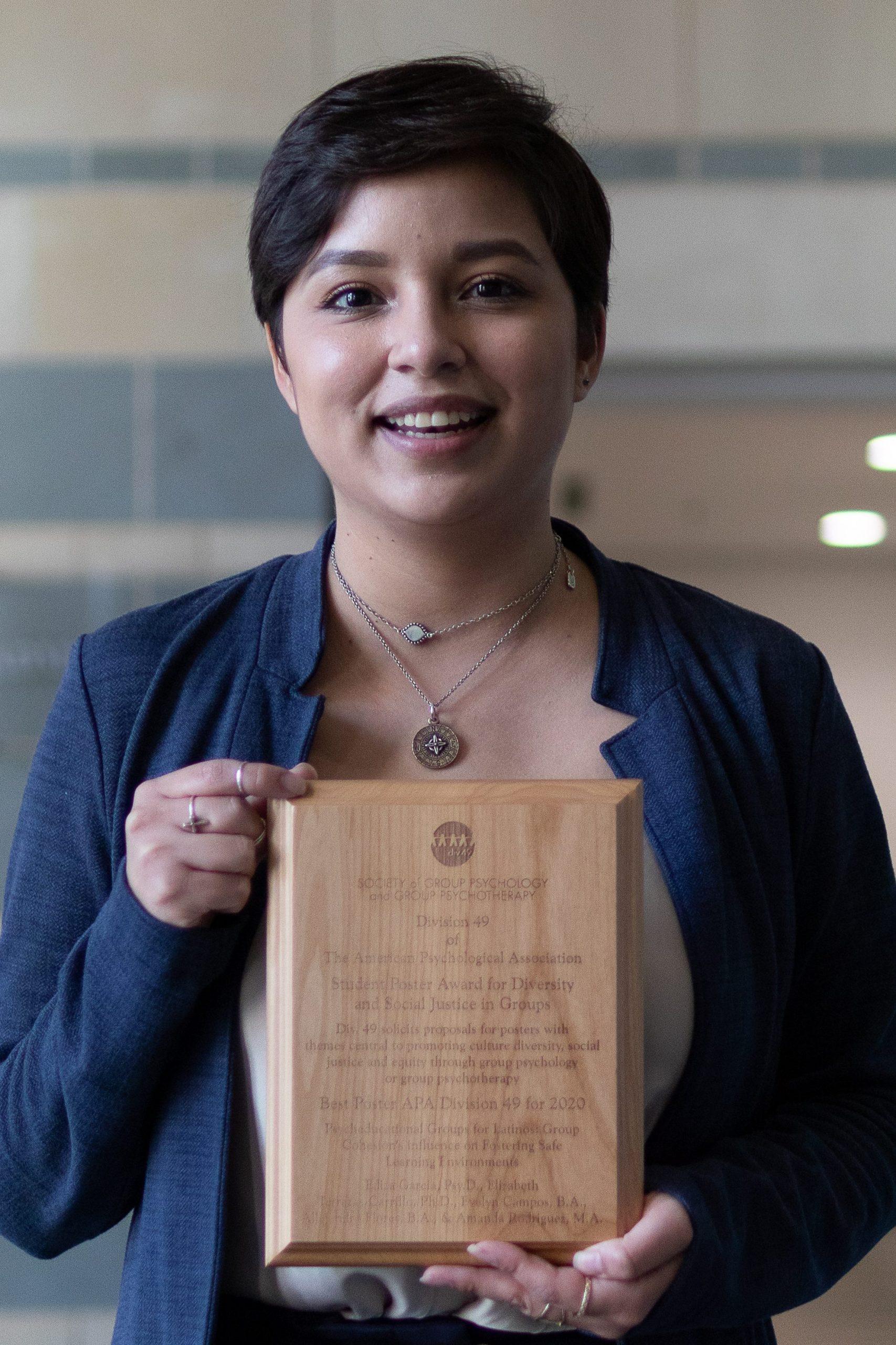 Campos with award