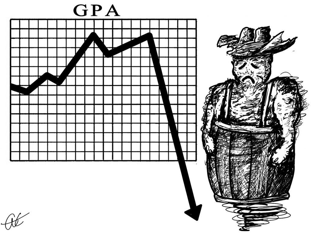 GPA drops illustration