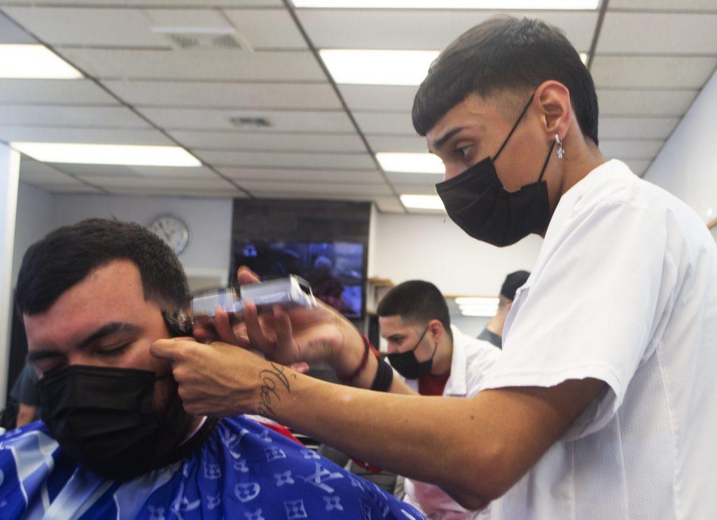 Andy Ferdin student barber
