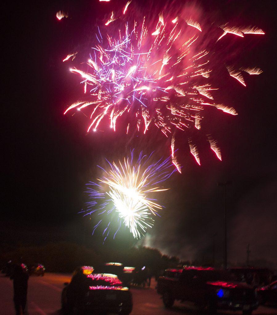 Fireworks end Welcome Week