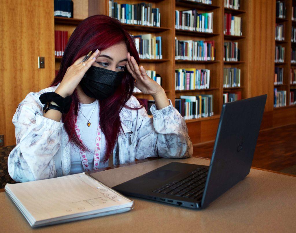 Photo Illustration: student stress