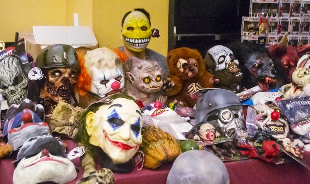 Halloween masks at Toyshow